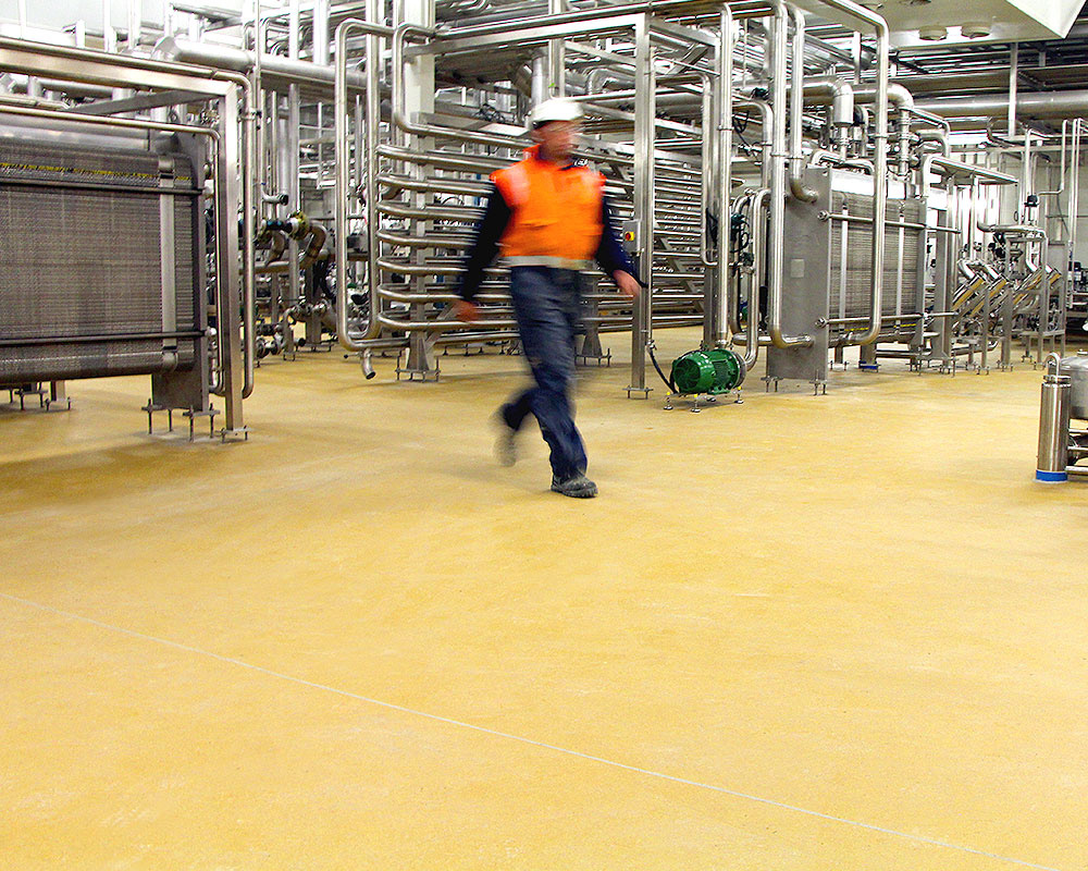 Dairy Processing & Manufacturing Plants - Flooring Solutions