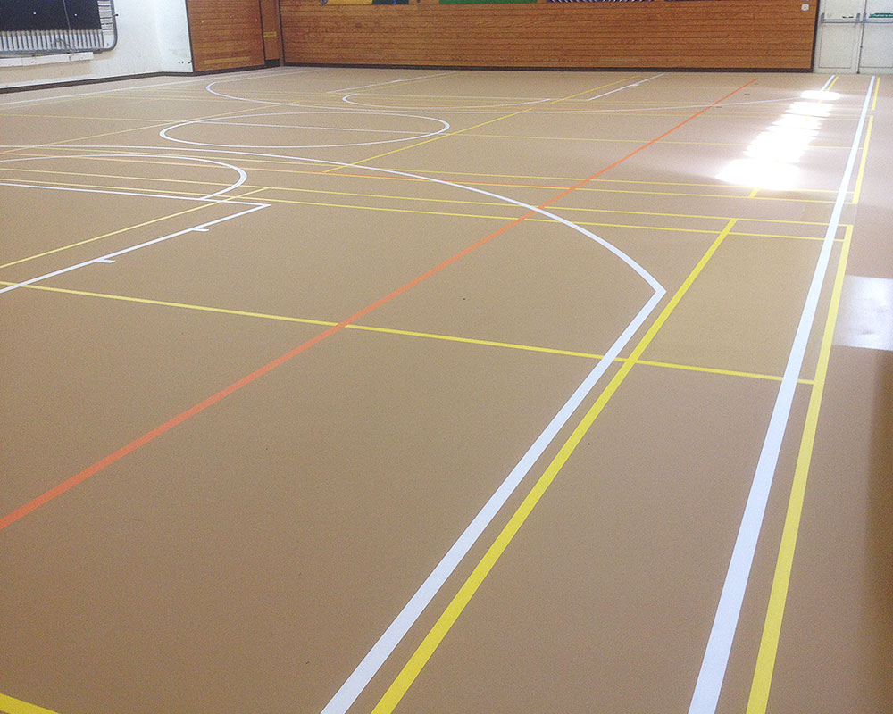 Sports floors nzsc new zealand specialised coatings for Sports flooring